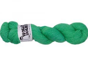 Wolloholiker Glitzer *Grüner Apfel*, Wolle kaufen Bremerhaven, handgefärbte Wolle