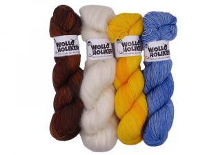 Wolloholiker Parlsnoor/Plüster Wollpaket *Hannah 01*. Wolle kaufen Bremerhaven, handgefärbte Wolle