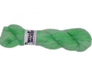 Plüüster *Grüner Apfel*. Wolle kaufen Bremerhaven, handgefärbte Wolle