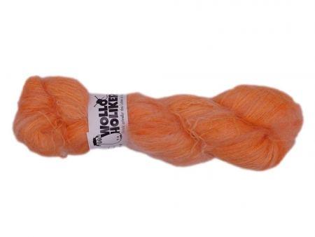 Wolloholiker Plüüster *Salty Orange*. Wolle kaufen Bremerhaven, handgefärbte Wolle