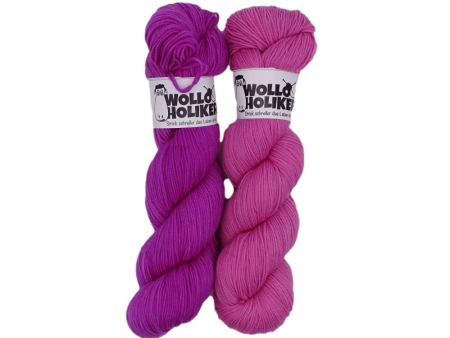 Merino High-Twist Zwillinge *Fruchtsorbet*. Wolle kaufen Bremerhaven, handgefärbte Wolle