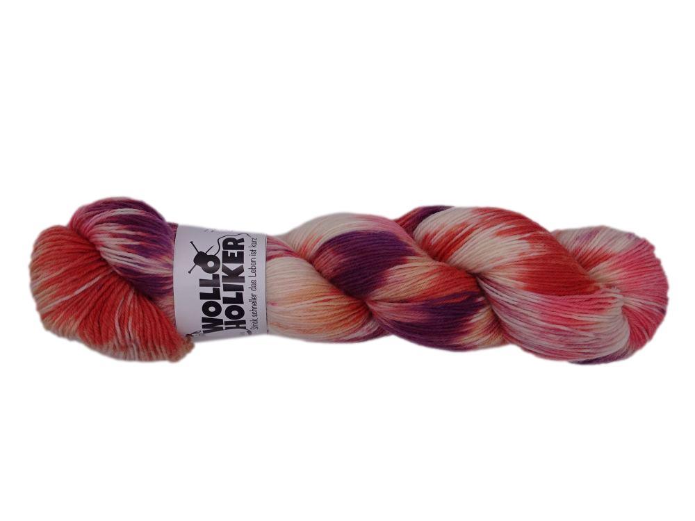 Special effects *Plüschapfel*. Wolle kaufen Bremerhaven, handgefärbte Wolle