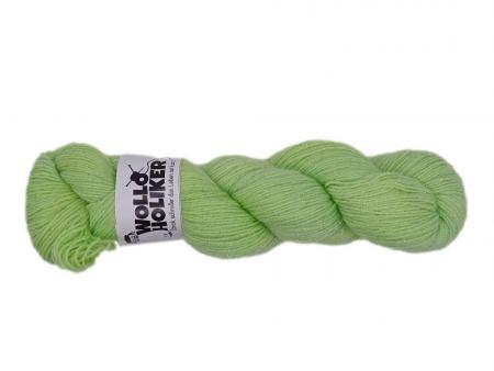 Glitzer *Lindenblütchen*. Wolle kaufen Bremerhaven, handgefärbte Wolle