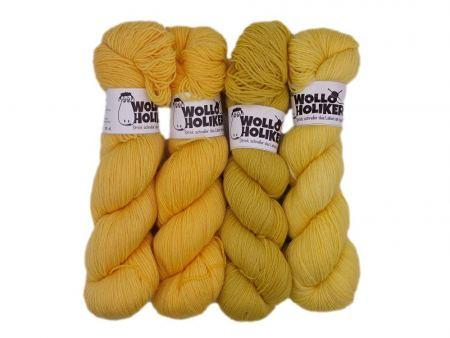 Wollpaket Basic *Maisfeld*. Wolle kaufen Bremerhaven, handgefärbte Wolle