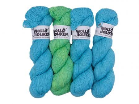 Wollpaket Basic *Sommerurlaub*. Wolle kaufen Bremerhaven, handgefärbte Wolle