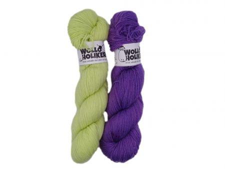 Basic-Zwillinge *Lindenblüte*. Wolle kaufen Bremerhaven, handgefärbte Wolle