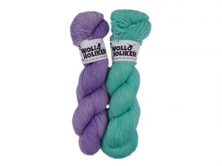 Basic-Zwillinge *Zauberei*. Wolle kaufen Bremerhaven, handgefärbte Wolle