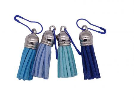 Maschenmarkierer *Quaste - Blautöne*. Wolle kaufen Bremerhaven, handgefärbte Wolle