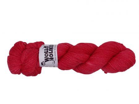 Seidenraupe *Klatschmohn*. Wolle kaufen Bremerhaven, handgefärbte Wolle