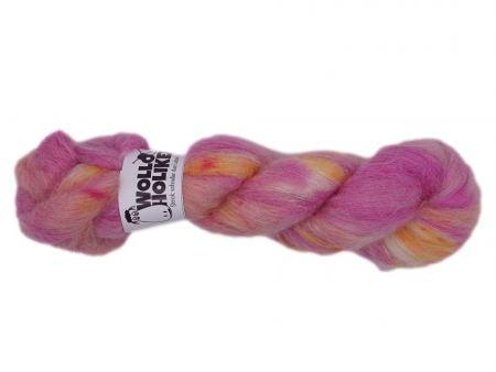 Plüüster *Teerose*. Wolle kaufen Bremerhaven, handgefärbte Wolle