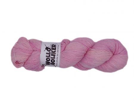 Seidenlace *Zartrosa*. Wolle kaufen Bremerhaven, handgefärbte Wolle