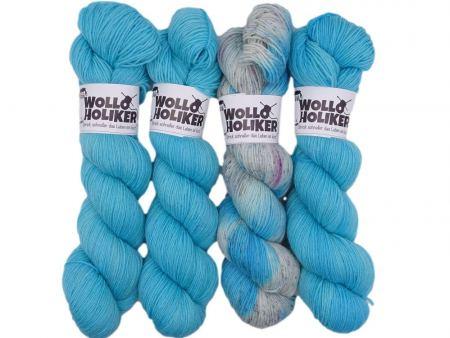 Wollpaket Basic/Special effects *Lapislazuli*. Wolle kaufen Bremerhaven, handgefärbte Wolle