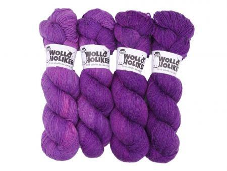 Wollpaket Hasenpups *Kirschkuchen*. Wolle kaufen Bremerhaven, handgefärbte Wolle