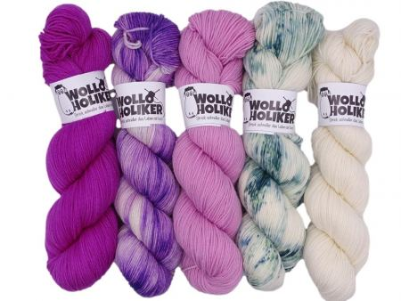 Wollpaket Merino High-Twist *Deichwiese*. Wolle kaufen Bremerhaven, handgefärbte Wolle
