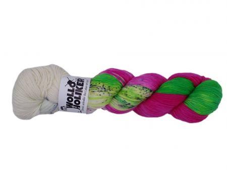 Plüschmors *Power*. Wolle kaufen Bremerhaven, handgefärbte Wolle