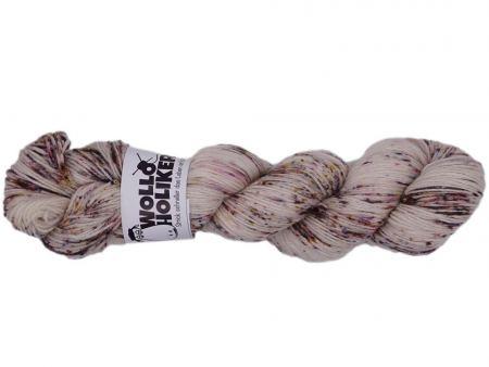 Seidenraupe *Birke*. Wolle kaufen Bremerhaven, handgefärbte Wolle