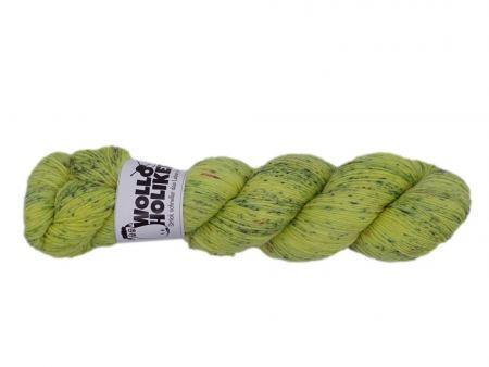 Seidenraupe *Gesprenkelte Zitrone*. Wolle kaufen Bremerhaven, handgefärbte Wolle