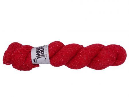 Glitzer *Klatschmohn*. Wolle kaufen Bremerhaven, handgefärbte Wolle