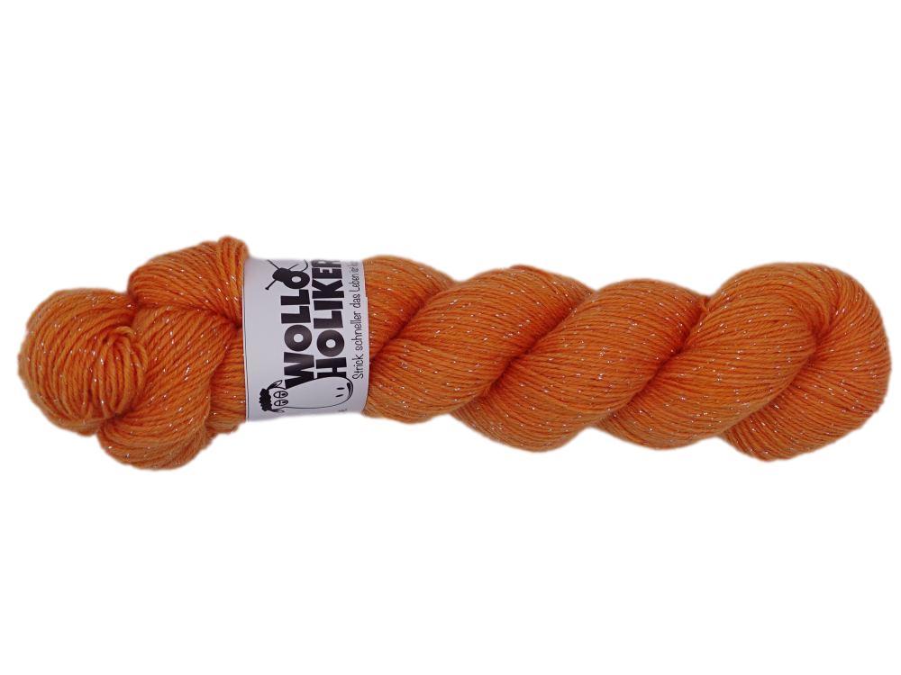 Glitzer *Kürbissuppe*. Wolle kaufen Bremerhaven, handgefärbte Wolle