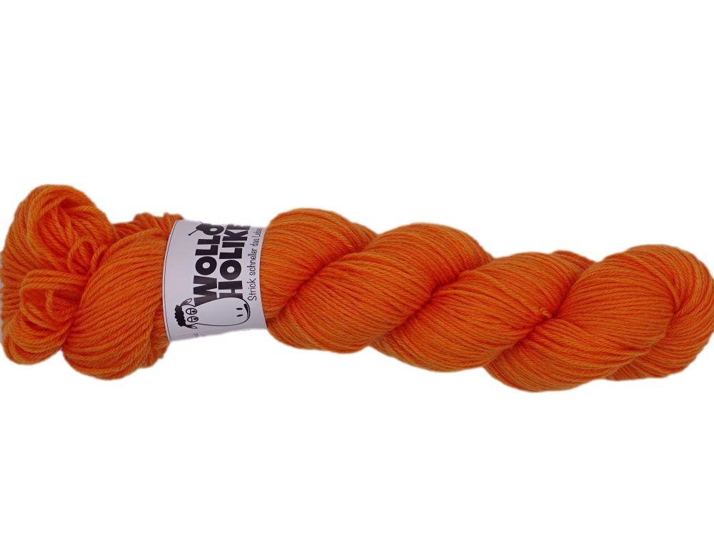 Plüschmoors *Kürbissuppe*. Wolle kaufen Bremerhaven, handgefärbte Wolle