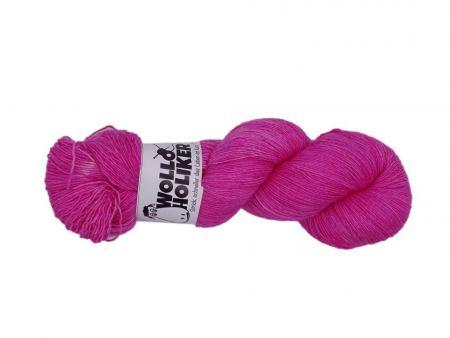 Seidenlace *Pink Ahoi*. Wolle kaufen Bremerhaven, handgefärbte Wolle