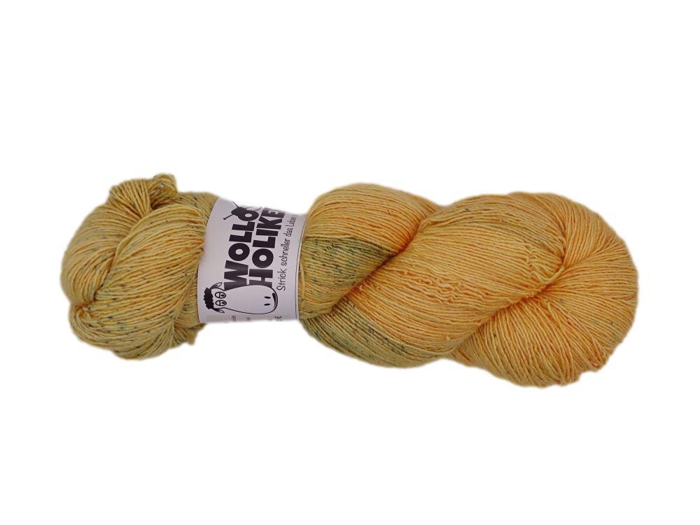 Seidenlace *Stoppelfeld*. Wolle kaufen Bremerhaven, handgefärbte Wolle