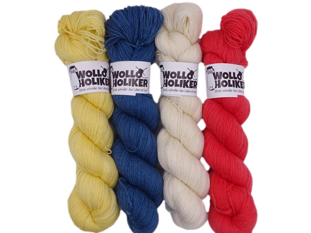 Wollpaket Basic *Ein Tag am Meer*. Wolle kaufen Bremerhaven, handgefärbte Wolle
