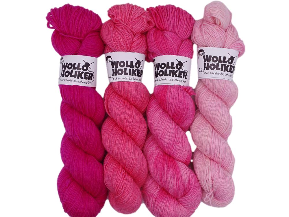 Wollpaket Basic *Mädchensommer*. Wolle kaufen Bremerhaven, handgefärbte Wolle