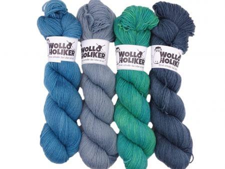 Wollpaket Basic *Schmuddelwetter*. Wolle kaufen Bremerhaven, handgefärbte Wolle