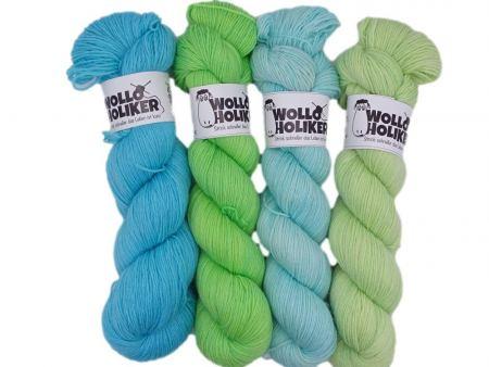 Wollpaket Basic *Sommerfrische*. Wolle kaufen Bremerhaven, handgefärbte Wolle