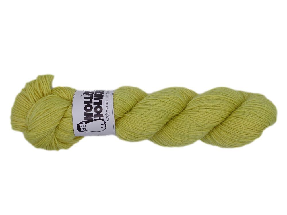 Merino High-Twist *Süßer Senf*. Wolle kaufen Bremerhaven, handgefärbte Wolle