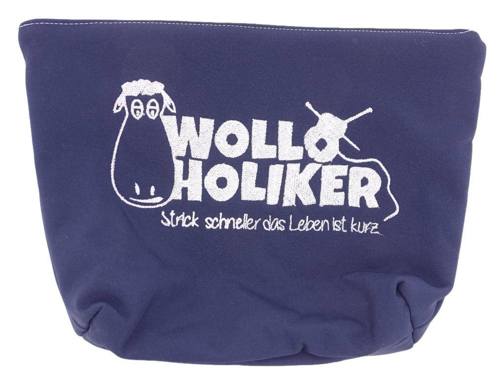 Projekttasche *Dunkelblau*. Wolle kaufen Bremerhaven, handgefärbte Wolle