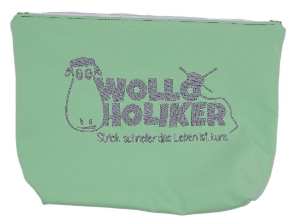 Projekttasche *Green Lovers*. Wolle kaufen Bremerhaven, handgefärbte Wolle