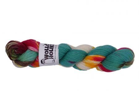 Special effects *Adventskranz*. Wolle kaufen Bremerhaven, handgefärbte Wolle