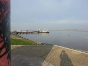 Blickrichtung Nordsee, Richtung Cuxhaven und mehr nach rechts auch nach Bremerhaven