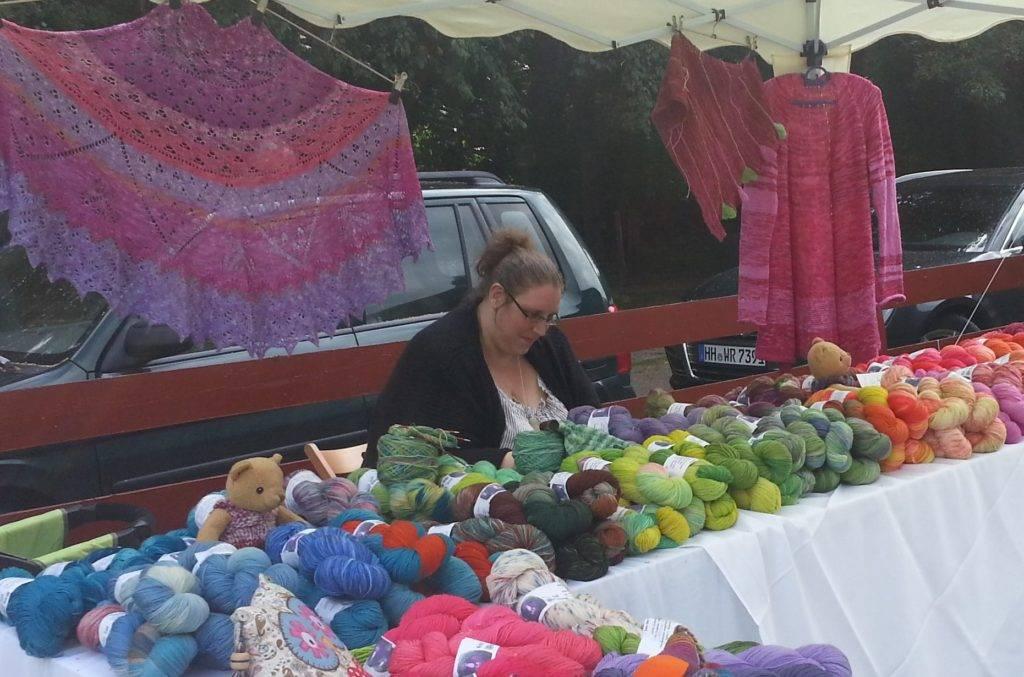 Sulingen, Wollfest, handgefärbte Wolle, handgefärbte Sockenwolle von wolloholiker