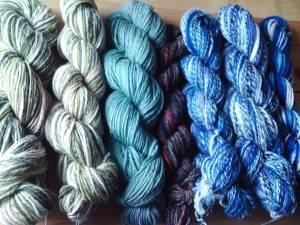 Blau und Grün - deutlich meine Lieblingsfarben